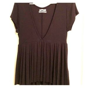 Black Deep V Urban Outfitters Top